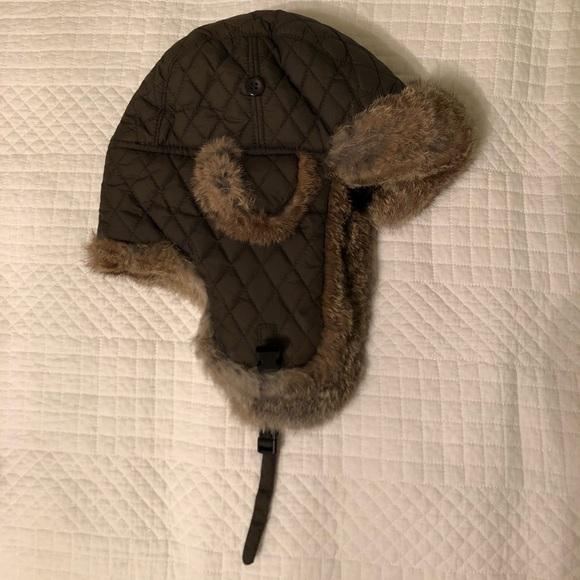 88f2a8b24e257 Surell Rabbit Fur Trapper Hat. M 5b73898bd365bebdb5b65089